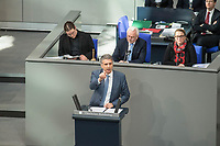 15. Sitzung des Bundestages am Freitag den 23. Februar 2018.<br /> Im Bild: Marc Jongen von der rechtsnationalistischen &quot;Alternative fuer Deutschland (AfD) spricht in der aktuellen Stunde auf Antrag von Buendnis 90/Die Gruenen zum Thema &quot;Demokratie/Erinnerungskultur angesichts rechtsextremistischer Angriffe&quot;.<br /> 23.2.2018, Berlin<br /> Copyright: Christian-Ditsch.de<br /> [Inhaltsveraendernde Manipulation des Fotos nur nach ausdruecklicher Genehmigung des Fotografen. Vereinbarungen ueber Abtretung von Persoenlichkeitsrechten/Model Release der abgebildeten Person/Personen liegen nicht vor. NO MODEL RELEASE! Nur fuer Redaktionelle Zwecke. Don't publish without copyright Christian-Ditsch.de, Veroeffentlichung nur mit Fotografennennung, sowie gegen Honorar, MwSt. und Beleg. Konto: I N G - D i B a, IBAN DE58500105175400192269, BIC INGDDEFFXXX, Kontakt: post@christian-ditsch.de<br /> Bei der Bearbeitung der Dateiinformationen darf die Urheberkennzeichnung in den EXIF- und  IPTC-Daten nicht entfernt werden, diese sind in digitalen Medien nach &sect;95c UrhG rechtlich geschuetzt. Der Urhebervermerk wird gemaess &sect;13 UrhG verlangt.]