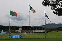 AIG signage at the 1st during the Preview of the AIG Cups & Shields Connacht Finals 2019 in Wesport Golf Club, Westport, Co. Mayo on Thursday 8th August 2019.<br /> <br /> Picture:  Thos Caffrey / www.golffile.ie<br /> <br /> All photos usage must carry mandatory copyright credit (© Golffile | Thos Caffrey)