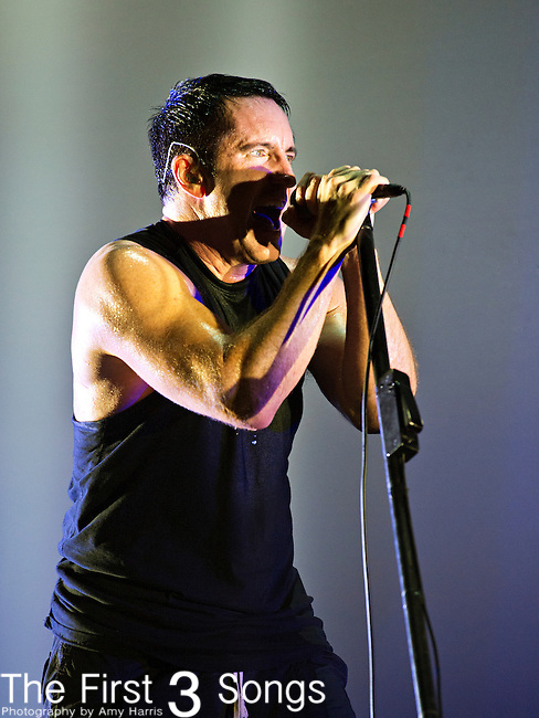 Trent Reznor of Nine Inch Nails performs during the 2013 Budweiser Made in America Festival in Philadelphia, Pennsylvania.