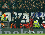 Napoli fans seem to hurl abuse at Sadio Mane of Liverpool during the UEFA Champions League match at Anfield, Liverpool. Picture date: 27th November 2019. Picture credit should read: Andrew Yates/Sportimage