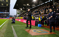 Burnley manager Sean Dyche walks out into the technical area<br /> <br /> Photographer Alex Dodd/CameraSport<br /> <br /> The Premier League - Burnley v Fulham - Saturday 12th January 2019 - Turf Moor - Burnley<br /> <br /> World Copyright © 2019 CameraSport. All rights reserved. 43 Linden Ave. Countesthorpe. Leicester. England. LE8 5PG - Tel: +44 (0) 116 277 4147 - admin@camerasport.com - www.camerasport.com