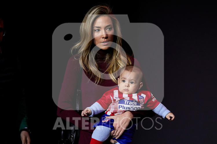 Alice Campello during the official presentation of Alvaro Morata as new player of Atletico de Madrid at Wanda Metropolitano Stadium in Madrid, Spain. January 29, 2019. (ALTERPHOTOS/A. Perez Meca) (ALTERPHOTOS/A. Perez Meca)