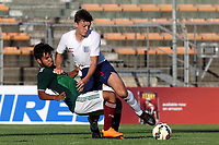 Dael Fry of Middlesbrough and England U21's challenges for the ball with Mexico's Eduardo Daniel Aguirre Lara during Mexico Under-21 vs England Under-21, Tournoi Maurice Revello Final Football at Stade Francis Turcan on 9th June 2018