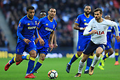 7th January 2018, Wembley Stadium, London, England;  FA Cup football, 3rd round, Tottenham Hotspur versus AFC Wimbledon; Wimblden players push forward looking for a late goal