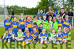 The Cordal U6 team that entertained the crowd at the opening of the Cordal GAA pitch on Sunday