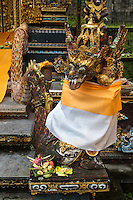 Jatiluwih, Bali, Indonesia.  Serpent's Head, Guarding Entrance to Temple Chamber.   Luhur Bhujangga Waisnawa Hindu Temple.
