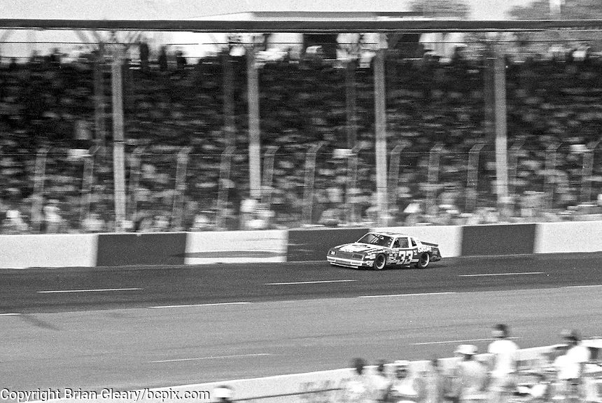 Harry Gant races to vicotry in the Southern 500 at Darlington Raceway in Darlington, SC on September 2, 1984. (Photo by Brian Cleary/www.bcpix.com)