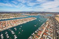 Aerial Stock Photo Of Newport Bay, Balboa Island And Lido Island