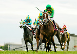 FRANKLIN, KY - SEPTEMBER 08: Arklow #8, ridden by Florent Geroux, wins the Calumet Farm Kentucky Turf Cup on Kentucky Turf Cup Day at Kentucky Downs on September 8, 2018 in Franklin, Kentucky. (Photo by Scott Serio/Eclipse Sportswire/Getty Images)