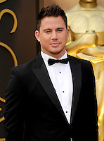 HOLLYWOOD, CA - MARCH 2: Channing Tatum arriving to the 2014 Oscars at the Hollywood and Highland Center in Hollywood, California. March 2, 2014. Credit: SP1/Starlitepics. /NORTePHOTO