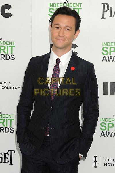 1 March 2014 - Santa Monica, California - Joseph Gordon-Levitt. 2014 Film Independent Spirit Awards - Arrivals held at Santa Monica Beach. <br /> CAP/ADM/BP<br /> &copy;Byron Purvis/AdMedia/Capital Pictures