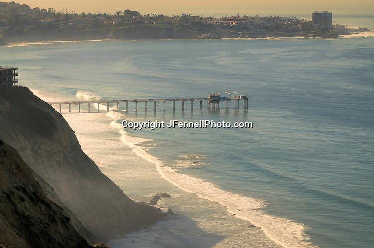 Scripps Pier with La Jolla in the Background