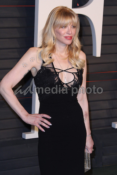 28 February 2016 - Beverly Hills, California - Courtney Love. 2016 Vanity Fair Oscar Party hosted by Graydon Carter following the 88th Academy Awards held at the Wallis Annenberg Center for the Performing Arts. Photo Credit: AdMedia