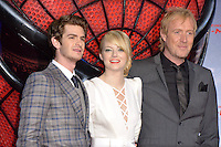 Andrew Garfield, Emma Stone (wearing an Andrew Gn dress) and Rhys Ifans attending the Germany premiere of the movie The Amazing Spider-Man at CineStar Sony Center in Berlin. Berlin, 20.06.2012...Credit: Timm/face to face /MediaPunch Inc. ***Online Only for USA Weekly Print Magazines*** NORTEPOTO.COM<br />