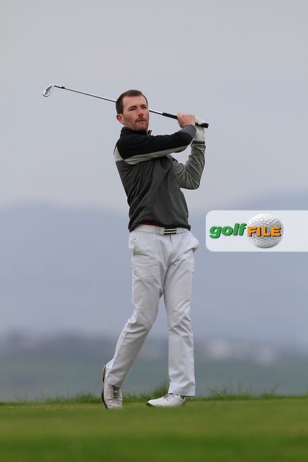 Stephen Loftus (Lahinch) during round 2 of The West of Ireland Amateur Open in Co. Sligo Golf Club on Saturday 19th April 2014.<br /> Picture:  Thos Caffrey / www.golffile.ie