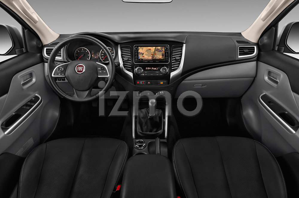Stock photo of straight dashboard view of 2017 Fiat Fullback Pack-Lusso 4 Door Pickup Dashboard