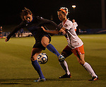 Sophomore Defender Arin Gilliland keeps the ball away from a UT-Martin player during the University of Kentucky vs UT-Martin soccer game in the first round of the NCAA Soccer Tournament in Lexington, Ky., on, 11 11/9/2012, {year}. Photo by Jared Glover | Staff
