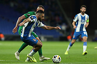 7th November 2019; RCDE Stadium, Barcelona, Catalonia, Spain; UEFA Europa League Football, Real Club Deportiu Espanyol de Barcelona versus PFC Ludogorets Razgrad;  Matias Vargas breaks away from his marker - Editorial Use