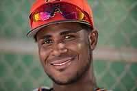 San Francisco Giants shortstop Manuel Geraldo (18) during a Minor League Spring Training game against the Cleveland Indians at the San Francisco Giants Training Complex on March 14, 2018 in Scottsdale, Arizona. (Zachary Lucy/Four Seam Images)