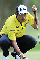 Hideki Matsuyama (JPN) on the 8th green during Saturday's Round 3 of the WGC Bridgestone Invitational 2017 held at Firestone Country Club, Akron, USA. 5th August 2017.<br /> Picture: Eoin Clarke | Golffile<br /> <br /> <br /> All photos usage must carry mandatory copyright credit (&copy; Golffile | Eoin Clarke)