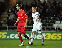 Pictured: Garry Monk of Swansea City in action<br /> Re: Carling Cup Round Four, Swansea City Football Club v Watford at the Liberty Stadium, Swansea, south Wales, Tuesday 11 November 2008.<br /> Picture by Dimitrios Legakis Photography (Athena Picture Agency), Swansea, 07815441513