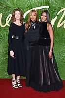 Stephanie Seymour, Naomi Campbell with mum Valerie at the British Fashion Awards 2017 at the Royal Albert Hall, London, UK. <br /> 04 December  2017<br /> Picture: Steve Vas/Featureflash/SilverHub 0208 004 5359 sales@silverhubmedia.com