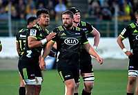 Ardie Savea and Dane Coles during the Super Rugby match between the Hurricanes and Brumbies at CET Arena in Palmerston North, New Zealand on Friday, 1 March 2019. Photo: Dave Lintott / lintottphoto.co.nz
