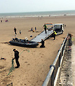 Exclusive Pics show:<br /> Boat believed to be rhib  dinghy carrying illegal immigrants on the beach at Dymchurch<br /> <br /> minimum fee &pound;200 per pic or &pound;500 per set.<br /> syndication rights acquired by pixel8000ltd<br /> <br /> <br /> <br /> <br /> Exclusive Pics by Desrin Wickington/ Pixel 8000 Ltd