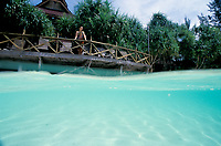 tropical beach resort Malaysia cottage on water