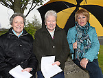 Sr Josephine, Sr Carmel and Margaret Robinson at the gathering at the Pope's Cross at Killineer to celebrate the canonisation of John Paul ll and to honour John XXlll. Photo:Colin Bell/pressphotos.ie
