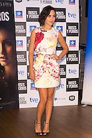 "Spanish Actress Megan Montaner attends the ""DIOSES Y PERROS "" Movie presentation at Kinepolis Cinema in Madrid, Spain. October 6, 2014. (ALTERPHOTOS/Carlos Dafonte) /nortephoto.com"