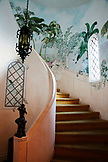 JAMAICA, Port Antonio. A staircase inside the Trident Castle.
