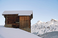 Alpine hut in the Swiss Alps, Gimmelwald