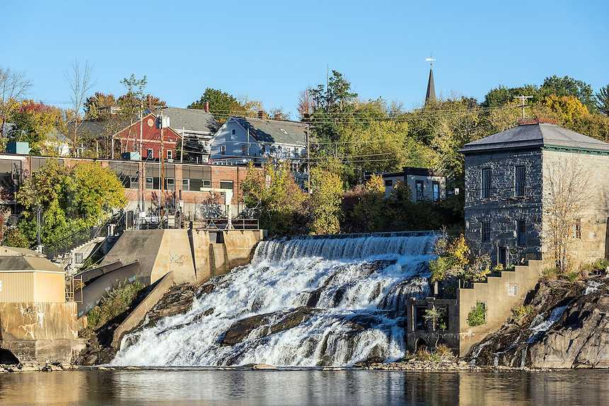Waterfall in the town of Vergennes, Vermont, USA.