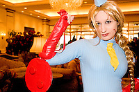"A cos-player at the 12th annual Katsucon, a convention for fans of Japanese comics, animation (anime), and video games, held in Washington D.C. on February 18, 2006 and attended by over 8,000 people.<br /> <br /> Cosplay, short for ""costume play"", is the act of creating and wearing outfits of one's favorite anime, comic, or video game and often acting out that characters actions."