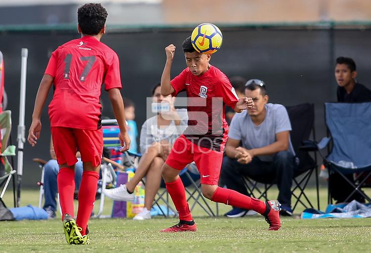 Oceanside, CA - Sunday November 4, 2018: U.S. Soccer Development Academy Boy's U-14 - West Regional Showcase at Oceanside Sports Complex.