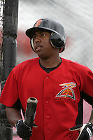 July 8 2009: Francisco Peguero of the Salem-Kaizer Volcanoes before game against the Tri City Dust Devils at Volcano  Stadium in Kaizer,OR.  Photo by Larry Goren/Four Seam Images