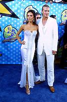 """©2003 KATHY HUTCHINS  / HUTCHINS PHOTO.""""2003 MTV MOVIE AWARDS"""".SANTA MONICA ,CA. MAY 31, 2003.VICTORIA BECKHAM AND DAVID BECKHAM"""