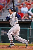 June 29, 2009:  Second Baseman Keith Ginter of the Charlotte Knights at bat during a game at Coca-Cola Field in Buffalo, NY.  The Knights are the International League Triple-A affiliate of the Chicago White Sox.  Photo by:  Mike Janes/Four Seam Images