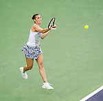 Flavia Pennetta (ITA) during her quarterfinal match against Sabine Lisicki (GER) at the BNP Parisbas Open in Indian Wells, CA on March 19, 2015.