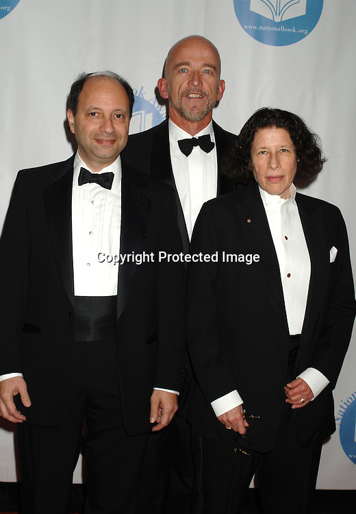 Harold Augenbraum, Mark Doty and Fran Lebowitz..at The National Book Awards Gala on November 15, 2006 ..at The Marriott Marquis Hotel in New York City...Photo by Robin Platzer, Twin Images