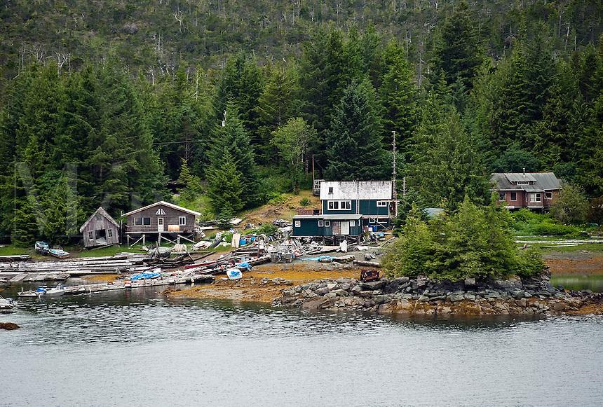 Off the grid cabin on Gravina Island, Alexander Archipelago, Alaska, USA
