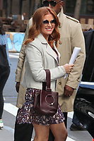 NEW YORK, NY - OCTOBER 3: Isla Fisher spotted leaving 'AOL Build'  in New York, New York on October 3 , 2017.  <br /> CAP/MPI/RMP<br /> &copy;RMP/MPI/Capital Pictures
