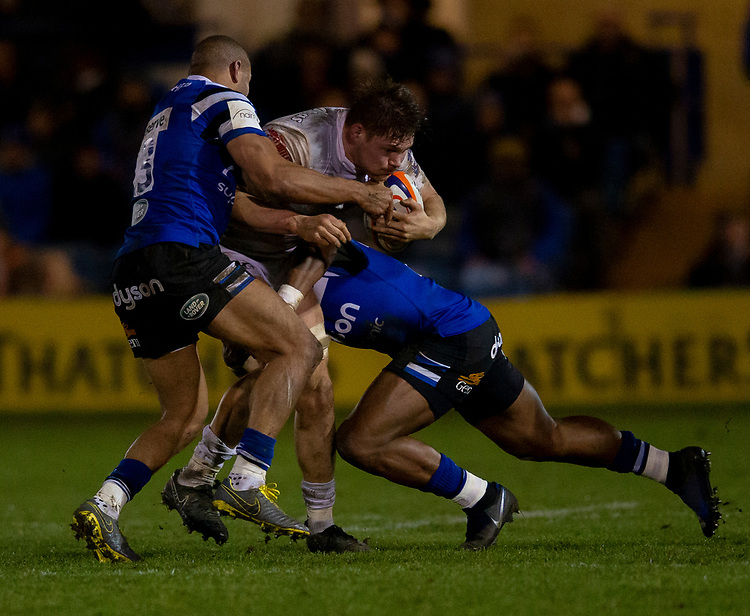Gloucester's Freddie Clarke in action during todays match<br /> <br /> Photographer Bob Bradford/CameraSport<br /> <br /> Gallagher Premiership - Bath Rugby v Gloucester Rugby - Monday 4th February 2019 - The Recreation Ground - Bath<br /> <br /> World Copyright © 2019 CameraSport. All rights reserved. 43 Linden Ave. Countesthorpe. Leicester. England. LE8 5PG - Tel: +44 (0) 116 277 4147 - admin@camerasport.com - www.camerasport.com