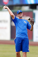 Craig Stem #40 of the Rancho Cucamonga Quakes before a game against the Inland Empire 66'ers at San Manuel Stadium on April 24, 2013 in San Bernardino, California. Inland Empire defeated Rancho Cucamonga, 2-1. (Larry Goren/Four Seam Images)