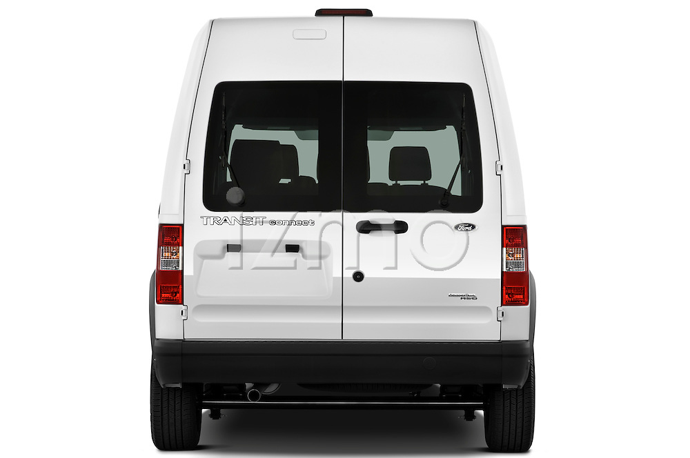 Straight rear view of a 2010 Ford Transit XL Wagon