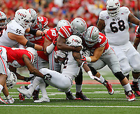 during the first quarter of the NCAA football game at Ohio Stadium in Columbus on Sept. 19, 2015. (Adam Cairns / The Columbus Dispatch)