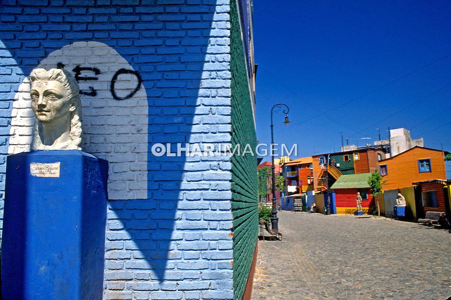 Casas no bairro Caminito em Buenos Aires, Argentina. 1993. Foto de Rogério Reis.