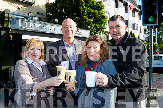 Mary Collier, Frank Murphy, Lyndsey Fredman and Alan Oliver launching the Sout West Councelling centre coffe morning which will be held in Lir Cafe next Friday 6th October