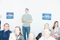 People listen as Democratic presidential candidate Senator Kirsten Gillibrand (D-NY) speaks at a town hall campaign event at the Concord Parks and Recreation Community Center in Concord, New Hampshire, USA on Sat., Apr. 6, 2019.